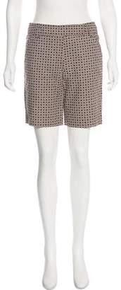 Tory Burch Mid-Rise Print Shorts