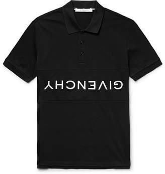 Givenchy Logo-Embroidered Cotton-Pique Polo Shirt