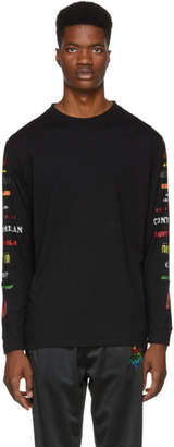 Marcelo Burlon County of Milan Black County Long Sleeve T-Shirt