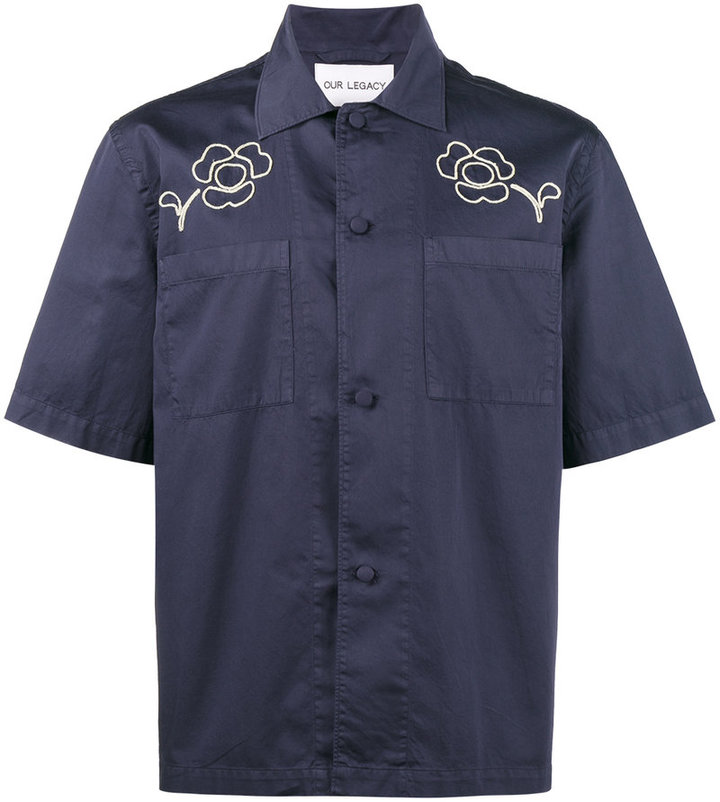 Our Legacy Splash floral short sleeve shirt