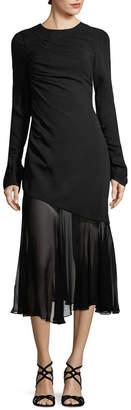 Prabal Gurung Ruched Silk Dress