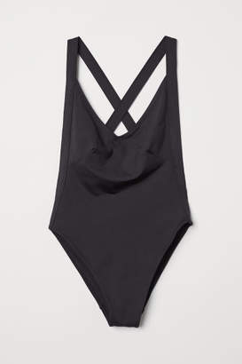 H&M High Leg Swimsuit - Black