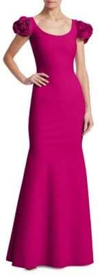 Chiara Boni Rose Shoulder Gown