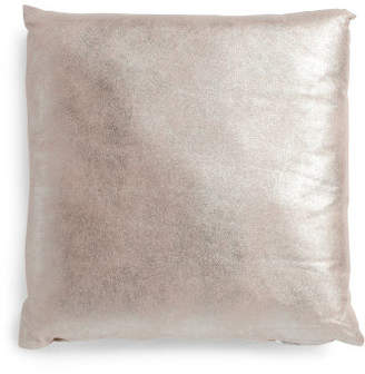20x20 Foil Faux Leather Pillow