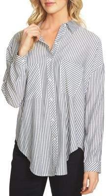 1 STATE 1.STATE Pinstripe Button Down Shirt