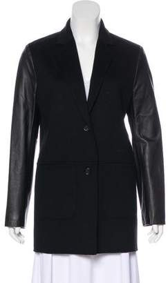 Neiman Marcus Cashmere & Leather Coat