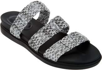 Logo By Lori Goldstein LOGO by Lori Goldstein Leather Elastic Strap Footbed Sandal