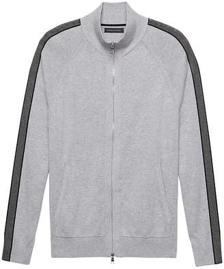Banana Republic SUPIMA® Cotton Full-Zip Sweater Jacket