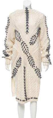 Prabal Gurung Wool Cable Knit Dress