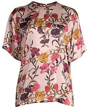 Mother of Pearl Women's Shirley Floral Silk Tee