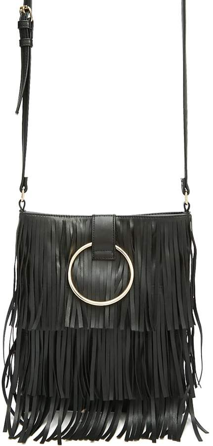 Forever 21 Fringe Faux Leather Crossbody