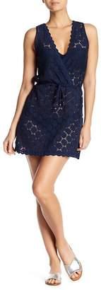 J Valdi Surplice Sleeveless Cover-Up Dress