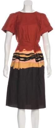 Bottega Veneta Belted Dip-Dye Dress