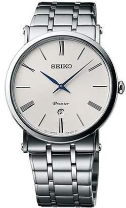 Seiko Men's 40mm Steel Bracelet & Case S. Sapphire Quartz Silver-Tone Dial Analog Watch SKP391P1