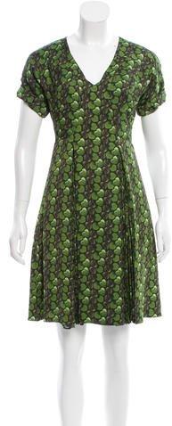 pradaPrada Heart Print Knee-Length Dress