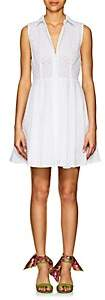 Barneys New York Women's Cotton Eyelet A-Line Shirtdress - White