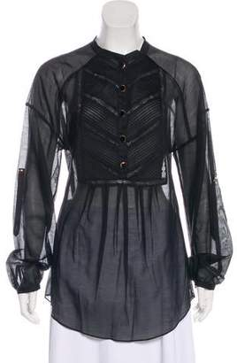 Temperley London Sheer Crew-Neck Top