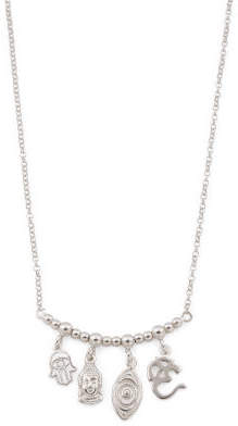 Made In Italy Sterling Silver Charm Necklace