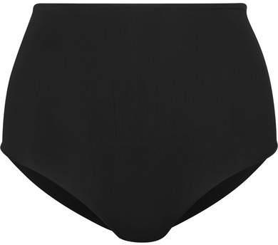 TM Rio - Milagres Striped Bikini Briefs - Black