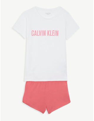Calvin Klein Logo cotton-blend pyjamas 8-16 years