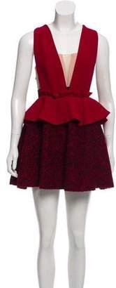 Three floor Layered Mini Dress