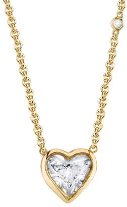 SHAY Bezel Diamond Solitaire Heart Necklace - Yellow Gold