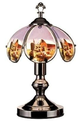 o.r.e International K-603C-US7 Stained Glass Touch Lamp, 14.25-Inch, Farmhouse