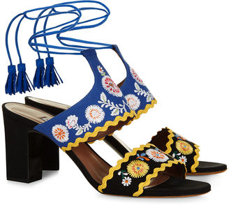 Multi Embroidered Thais Spain Sandals