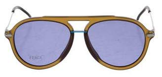 Fendi Round Aviator Sunglasses