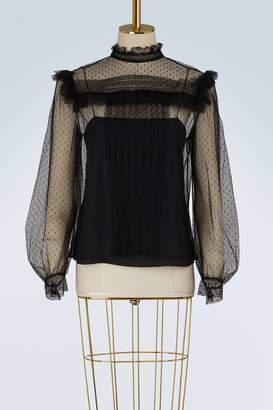 Miu Miu Tulle embroidered top