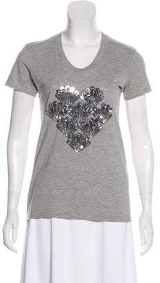 Markus Lupfer Sequin Short Sleeve T-shirt