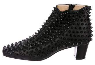 Christian Louboutin Aioli Spiked Ankle Boots