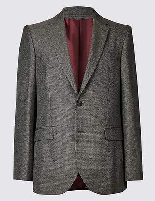 Marks and Spencer Brown Checked Regular Fit Jacket