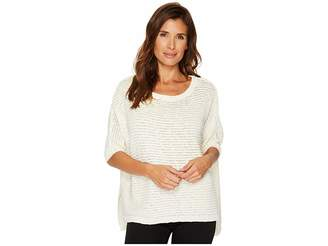 Vince Camuto 3/4 Sleeve Crinkle Yarn Dolman Sweater Women's Sweater