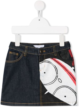 Little Marc Jacobs printed denim skirt