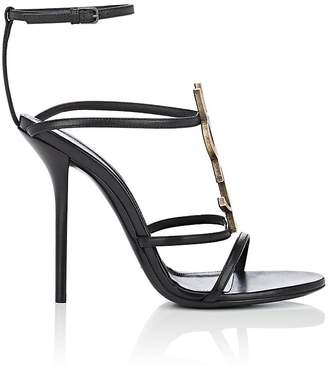 Saint Laurent Women's Cassandra Leather Sandals