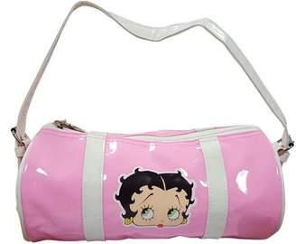Betty Boop Roll Style Pink Glossy Handbag with Betty Motif