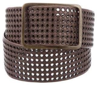 Sonia Rykiel Grommet-Embellished Leather Belt