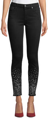7 For All Mankind The Ankle Skinny Jeans with Crystal Cuffs