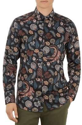 Ted Baker Vauxhal Razzle-Dazzle Printed Regular Fit Shirt