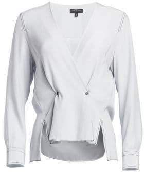 Rag & Bone Debbie Silk Wrap Top