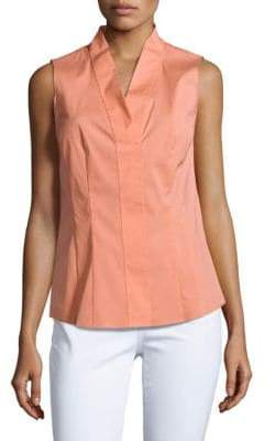 Lafayette 148 New York Evan Cotton-Blend Sleeveless Top