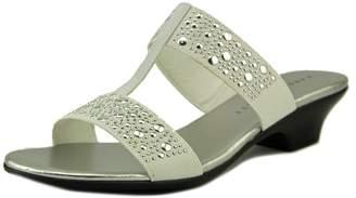 Karen Scott Womens EDDINA Fabric Open Toe Casual Slide Sandals