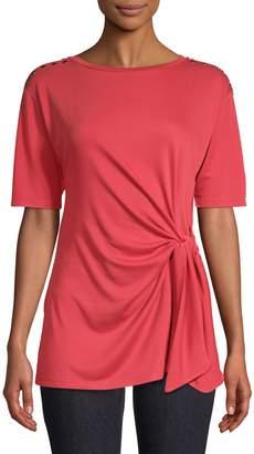 Jones New York Tie-Waist Short-Sleeve Top