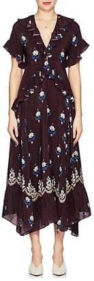Warm Women's Stevie Floral Crêpe De Chine Maxi Dress