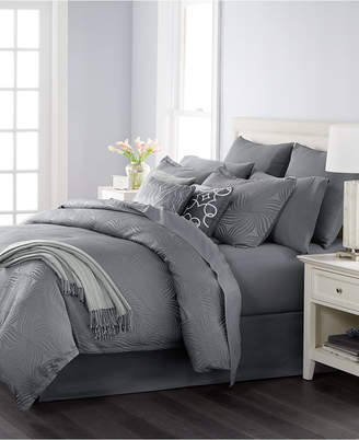Martha Stewart Collection Closeout! Collection Juliette Graphite 14-Pc. Queen Comforter Set, Created for Macy's Bedding