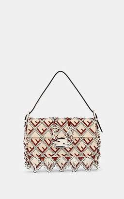 3082ea82ba94 Fendi Women s Baguette Beaded Leather Shoulder Bag