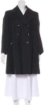 Burberry Linen-Blend Knee-Length Coat