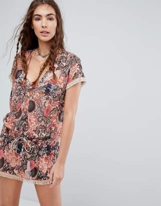 Maaji Palm Print Beach Dress