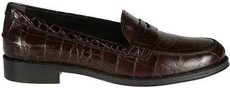 Tod's Crocodile Skinned Loafers